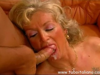 Big Cock Blowjob Cumshot European Italian Mature Swallow