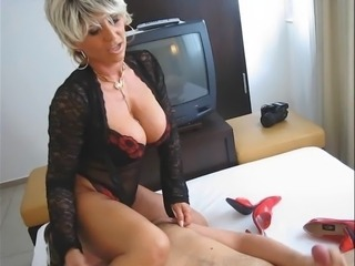 Big Tits Blonde Handjob Lingerie Mature Mom