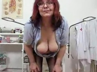 Big Tits Doctor Glasses Mature Natural Redhead