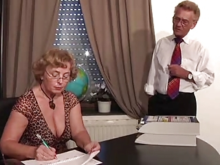 Glasses Mature Natural Office Secretary