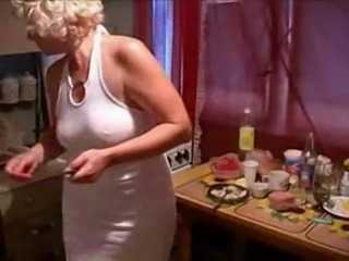 Amateur Drunk Homemade Kitchen Mature Mom