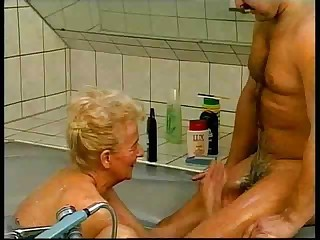 Bathroom European German Handjob