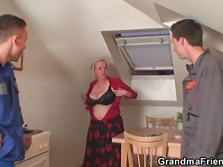 Big Tits Kitchen Lingerie Mom Natural Old And Young Stripper Threesome