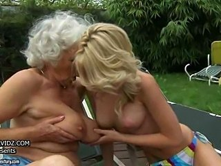 Big Tits Lesbian Natural Old And Young Outdoor