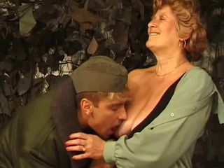 Army Licking Mom Old And Young Uniform