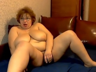 Amateur  Big Tits Glasses Masturbating Mature