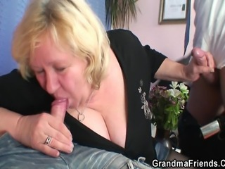 Big Tits Blowjob Mom Natural Old And Young Threesome