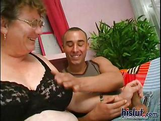 Glasses Handjob Lingerie Mom Old And Young
