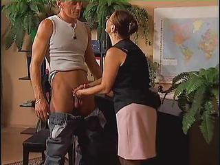 European German Glasses Handjob Teacher