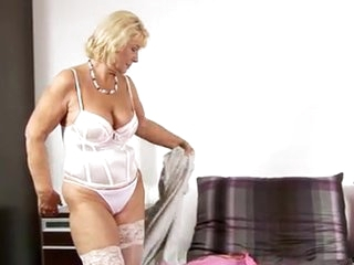 Blonde Lingerie Panty Stockings Stripper