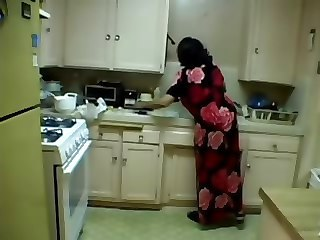 Amateur Chubby Homemade Kitchen