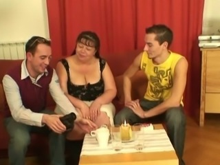 Mature Mom Old And Young Threesome