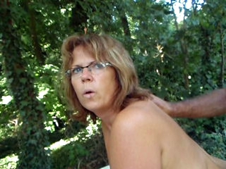 Amateur Doggystyle Glasses Mature Outdoor