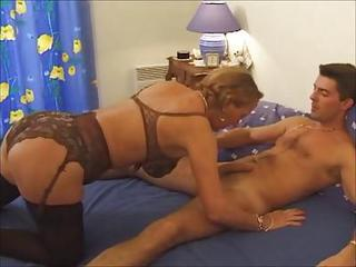 Big Tits French Lingerie Mature Mom Stockings