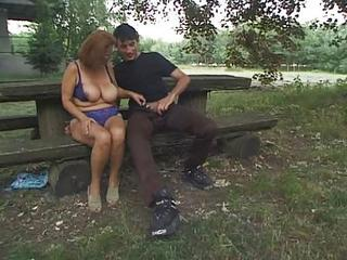 Big Tits Chubby European German Lingerie Natural Outdoor