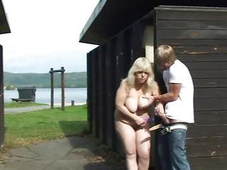 Big Cock Big Tits Farm Handjob Mom Natural Old And Young Outdoor