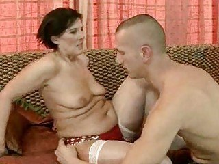 Brunette Mom Old And Young Stockings