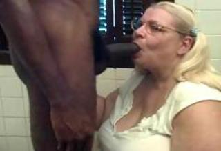 Amateur Bathroom Big Cock Blonde Blowjob Glasses Homemade Interracial