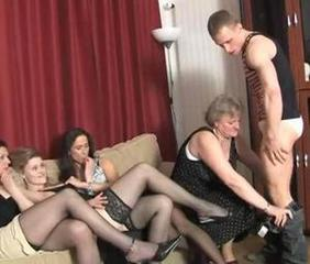 Groupsex Old And Young Stockings