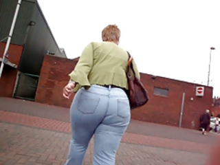 Ass  Jeans Outdoor Public