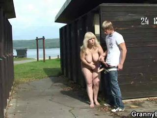 Big Tits Farm Handjob Mom Natural Old And Young Outdoor
