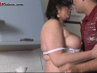 Big Tits Kitchen Nipples Old And Young