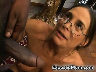 Big Cock Cumshot Facial Glasses Interracial Mature
