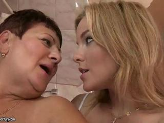 Bathroom Lesbian Old And Young