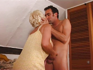 British European Kissing Mom Old And Young