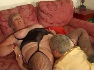 Licking Lingerie Mom Old And Young Stockings