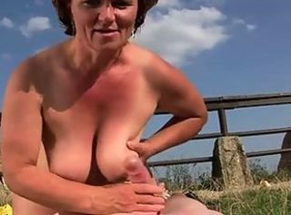Big Tits Farm Handjob Natural Outdoor