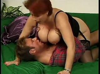 Big Tits European German Mature Natural Stockings Wife