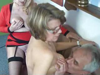 Amateur European German Older Threesome