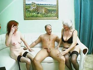 Big Cock Old And Young Stockings Threesome