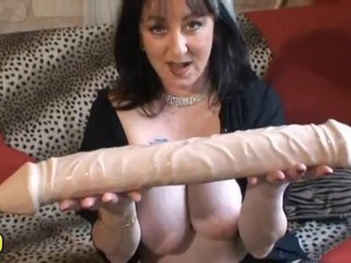 Big Tits Brunette Dildo Mature Mom