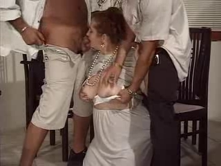 Blowjob Clothed Natural Threesome