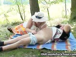 Blowjob Older Outdoor Small Cock Wife