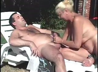 Handjob Outdoor Pool