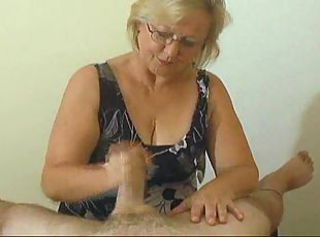 Amateur Glasses Handjob