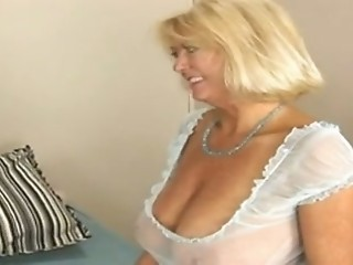 Big Tits Blonde Lingerie Natural