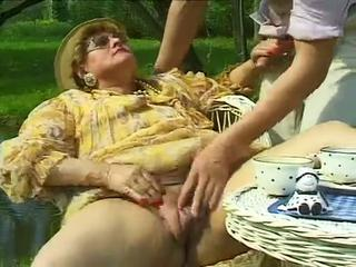Clothed Handjob Mom Old And Young Outdoor Pussy