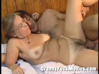 Amateur Glasses Hairy Mom Old And Young