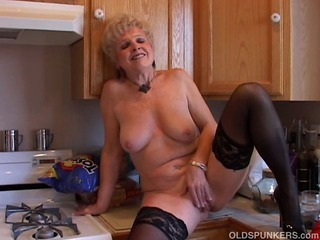 Kitchen Masturbating Solo Stockings
