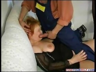 Blowjob Mature Mom Redhead Russian