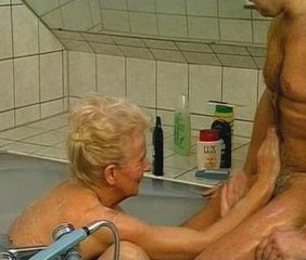Bathroom European German Mom Old And Young