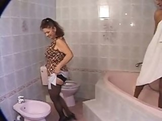 European German Stockings Toilet