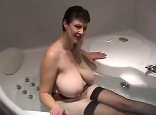 Amateur Bathroom Big Tits Homemade Natural  Stockings