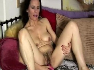 Hairy Masturbating Solo Toy