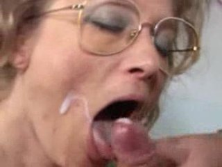 Cumshot Glasses Swallow