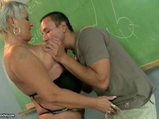 Chubby Mature Old And Young Teacher